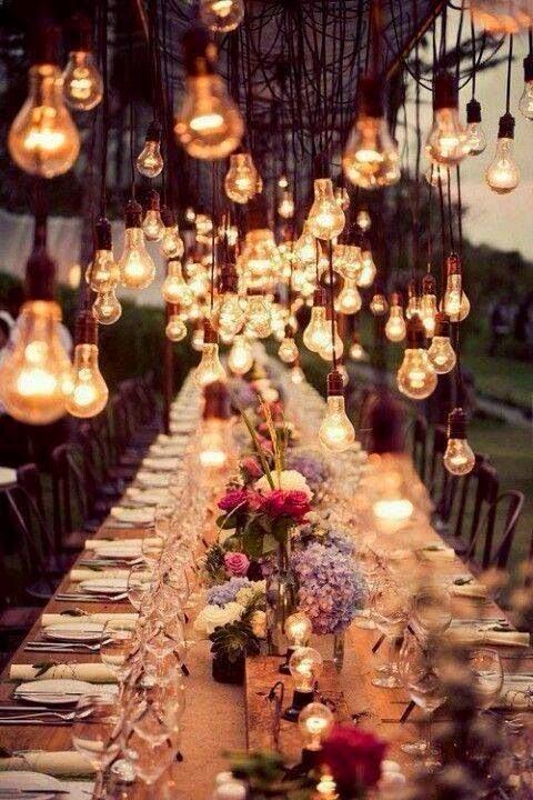 Mesa larga para bodas 5