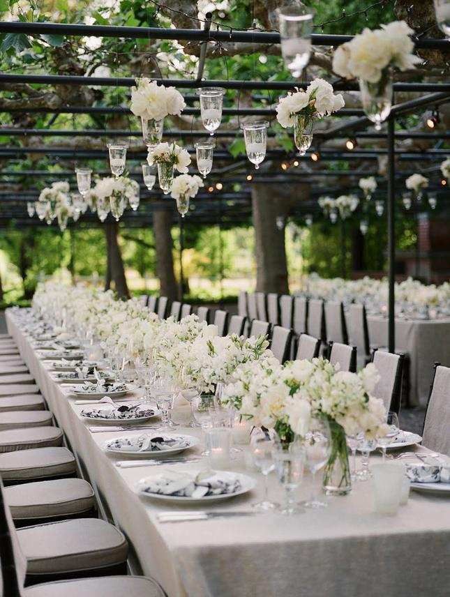 Mesa larga para bodas 8